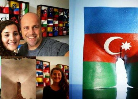 Azərbaycanlı qız bayrağımızı görün necə təhqir etdi – Hələ belə biabırçılıq olmamışdı /FOTOLAR 18+
